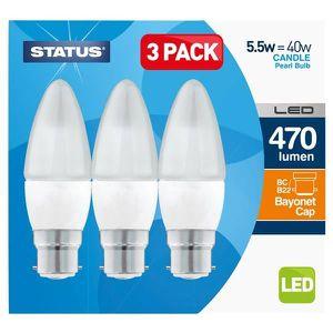 AMPOULE - LED STATUS Boîte de 3 LED bougie ampoules à baïonnette