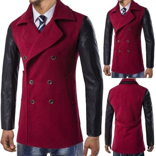 Veste Pardessus D'hiver Chaude Outwear Long Button Trench Smart 0r05wq