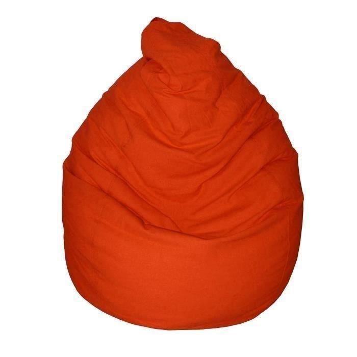 Enveloppe : 100% coton - Garnissage : polystyrène - Diamètre : 75 cm - Hauteur : 110 cm - Coloris : TerracottaPOUF - POIRE