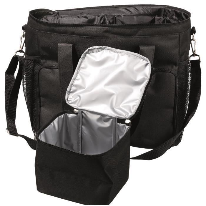 TRIXIE Sac pour accessoires Pet Storage - 38 × 35 × 17 cm - Noir - Pour chien