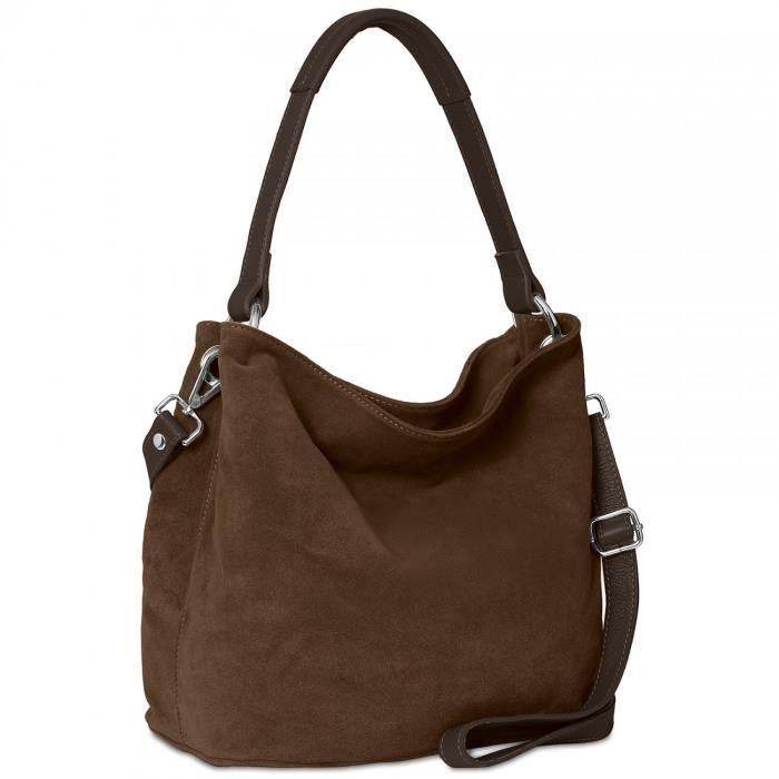 sac à main caspar womens - - sac en daim - beaucoup de couleurs - tl580 1X3F7Y