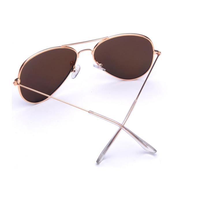 Lunettes de soleil mixte homme et femme Fashion Grande Cadre sunglasses Métal Cadre marque de Luxe Argent/Violet