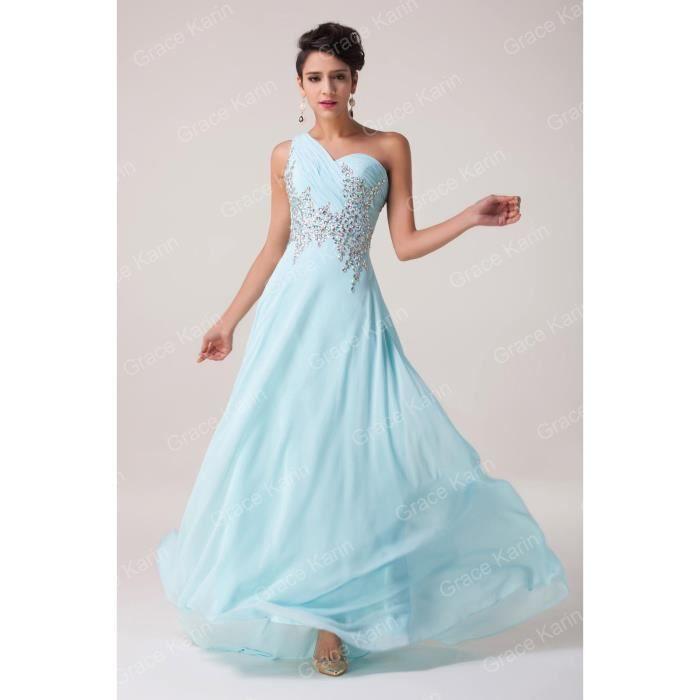 Robe De Mariéesoirée Bleu Clair Tailles Du 32 Au 46 Bleu