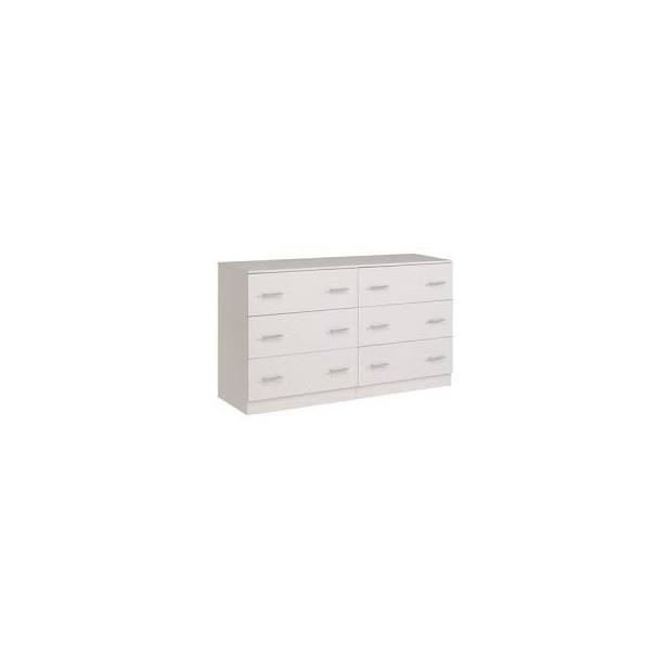 Infini Commode 6 Tiroirs Couleur Blanc Achat Vente Commode