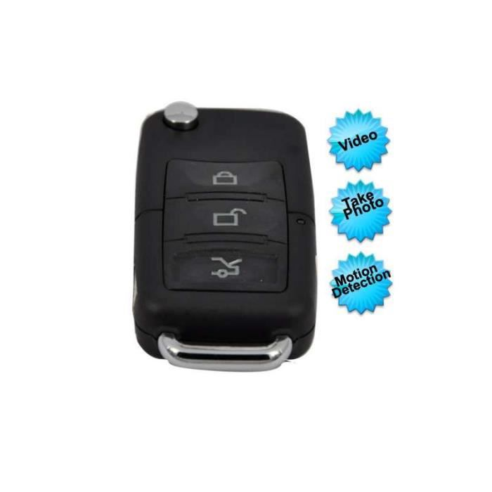 4gb Carte Mini Car Key Fob Dvr De Detection De Mouvement Camera