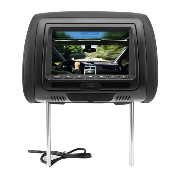 voiture lecteur dvd de voiture appui t te noir voiture dvd. Black Bedroom Furniture Sets. Home Design Ideas