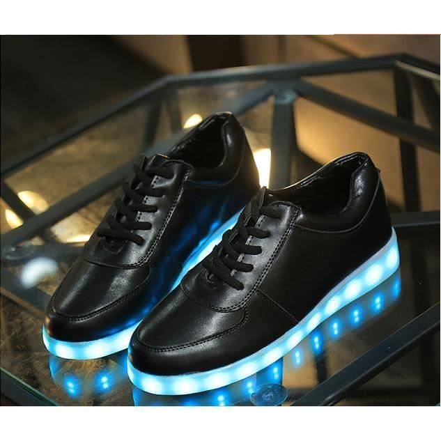 Lumineuses Charge Sole Usb Led Chaussures Fluorescent Couples rBCoedx