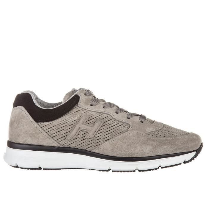 sneakers baskets Chaussures homme forato Hogan daim en h3d S5naRAqwnF