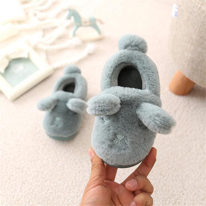 Mouton Chausson Doux Plus De Cachemire Hiver Chaussons Garde Au Chaud Coton Enfant Chaussure Confortable décontractées