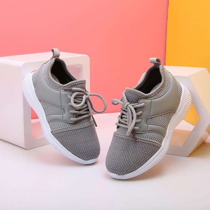 1f8f903844f88 Chaussures de sport de sport respirant Net à la mode Chaussures filles  Garçons Enfants Chaussures Gris
