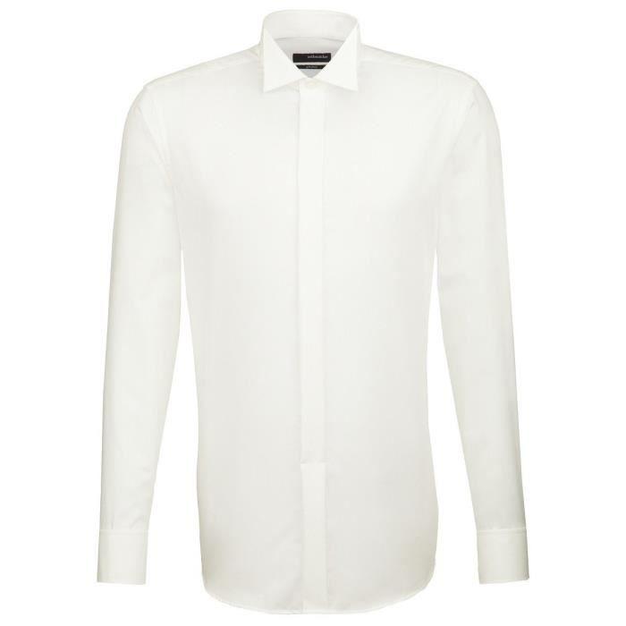 Seidensticker Shirt Robe, crème, collier aile, Slimline, 100% coton 1 gratuit Bow Tie 1SGQNT Taille-XXL