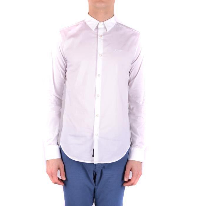 Homme Mcbi024241o Blanc Jeans Chemise Coton Armani 5OEzAxw6 461e94409d64