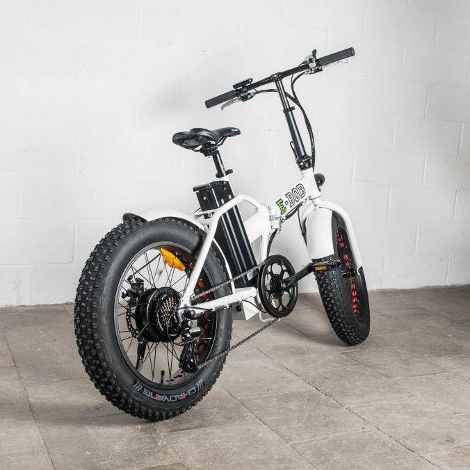 v lo lectrique pliant fat bike e bob blanc 36 v 13 ah autonomie 80 km prix pas cher. Black Bedroom Furniture Sets. Home Design Ideas