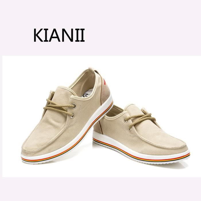 Chaussures Homme Toile Beige