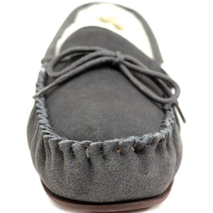 Suede Sheepskin Moccasin Slippers With Rubber Sole F2EMS Taille-44 1-2 YLQsvLY