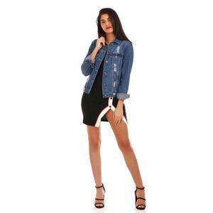 509262db29d6a Veste en jean femme - Achat   Vente Veste en jean femme pas cher ...