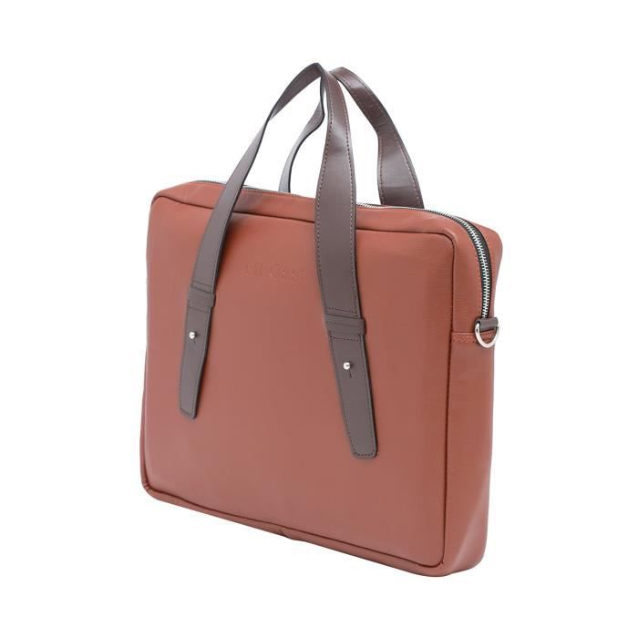 Faux cuir pour hommes 9 litres Messenger Portefeuille de Sac pour ordinateur portable - sac à main - Pfb_001 Tan Brown KS236