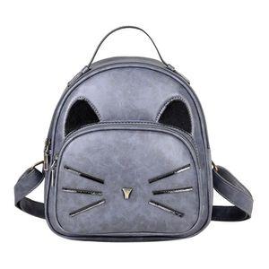SAC À DOS Bande dessinée mignonne chat sac à dos en cuir PU