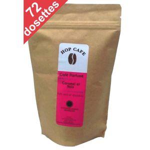 CAFÉ - CHICORÉE Pack 72 dosettes de Café aromatisé Caramel Noix po