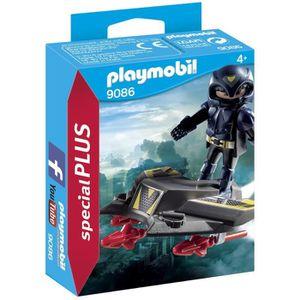 FIGURINE - PERSONNAGE PLAYMOBIL 9086 - Chevalier du Ciel avec Planeur