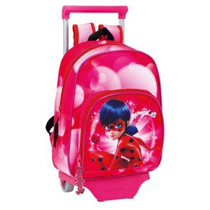 CARTABLE MIRACULOUS - Cartable trolley maternelle 34cm Lady