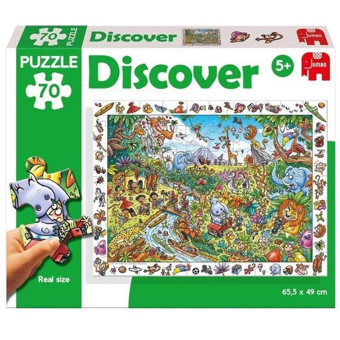 DISET Puzzle 70 Pièces Safari