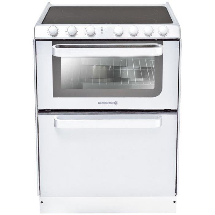 HOOVER Rosieres TRV60RB / U Cuisinieres Vitroceramique - 60X60 - Email Lisse - Blanc