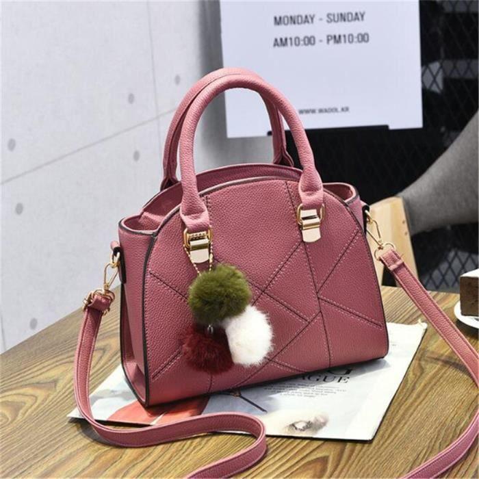 prix compétitif 3152d f8c49 sacs femme Sac Marque De Luxe Femme Cuir cartable femme sac a bandouliere  femme femmes sacs à main en cuir sac cuir noir Classique