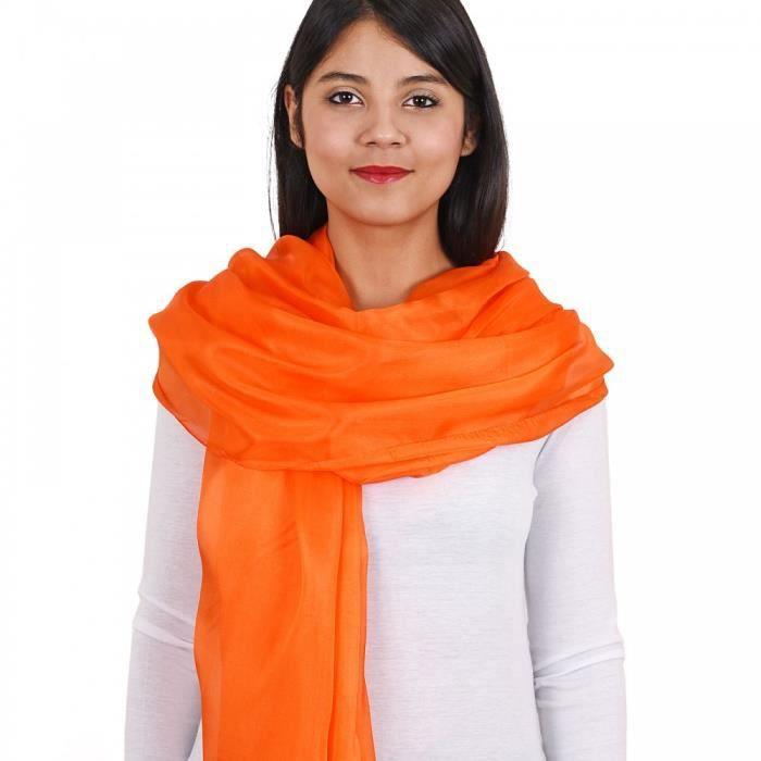 Etole soie orange Orange - Achat   Vente echarpe - foulard ... 9384822f166