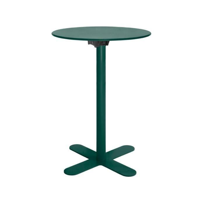 Table haute de jardin design San Mateo D60 Couleur Vert mousse ...