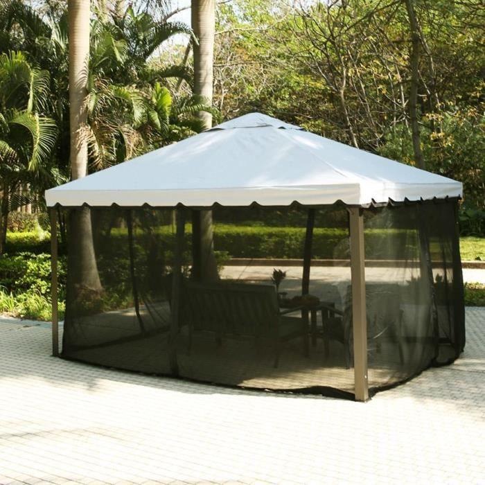 tonnelle terrasse de f te avec tente moustiquaire inusable. Black Bedroom Furniture Sets. Home Design Ideas