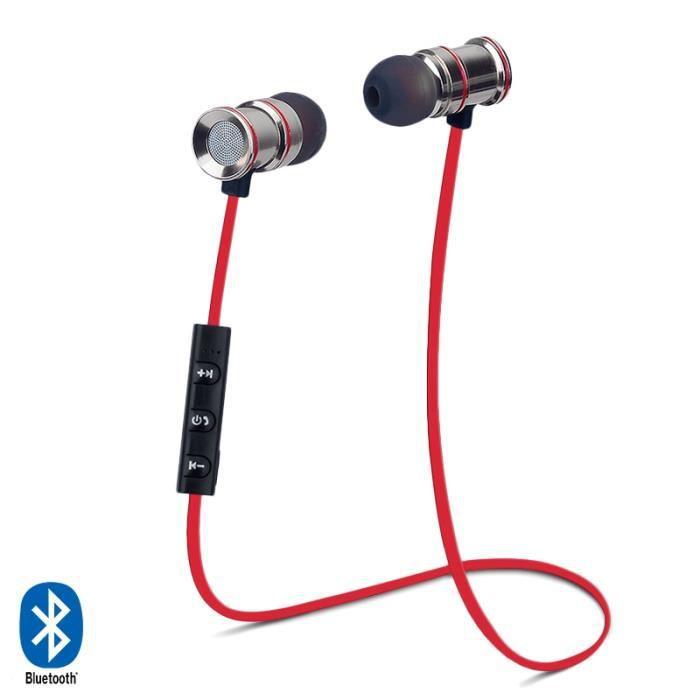 Écouteurs Bluetooth Sport Rouge Pour Samsung Galaxy Note 8, 6