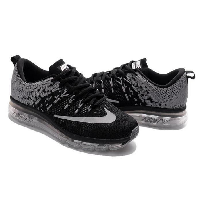 Air De Running Noir Max Nike Hommes Flyknit Baskets Chaussures 2016 lFK13JcT