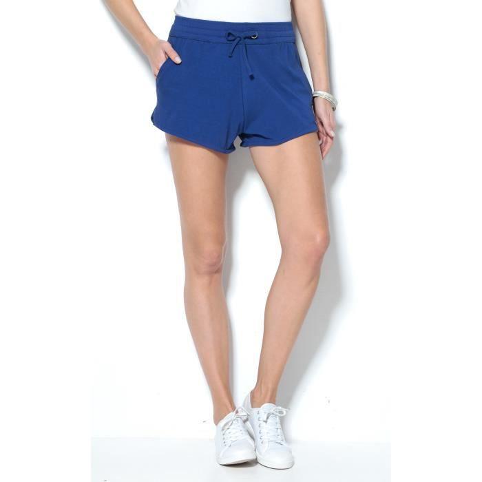 8b577cbffc Short taille élastique femme Venca Bleu -