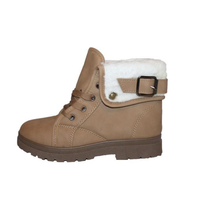 boots marron fourrées femme ou ados