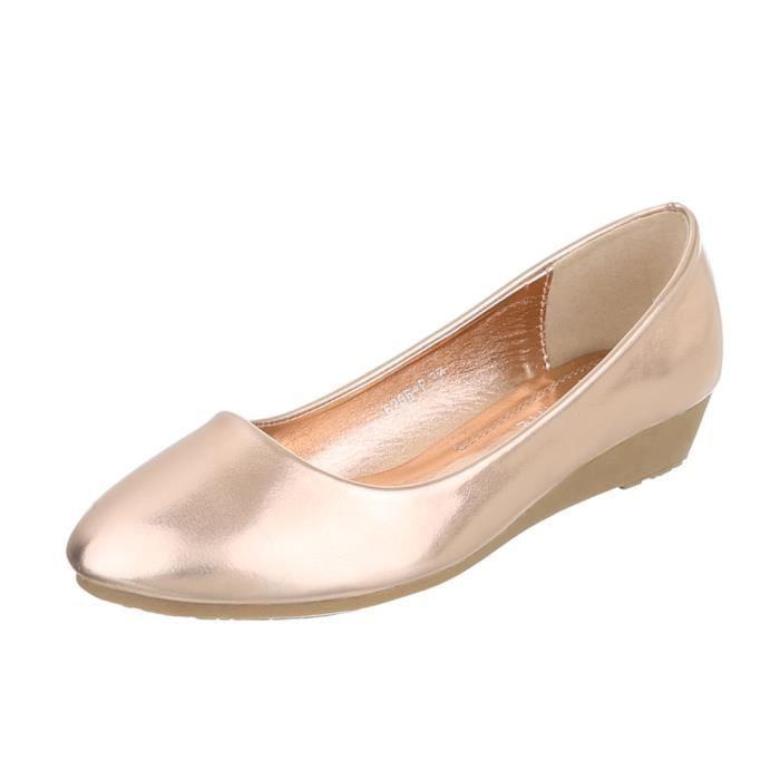 Compense 41 Semelle Rose gris corail rose Escarpin Femme Argent Chaussures Or p1wYtt