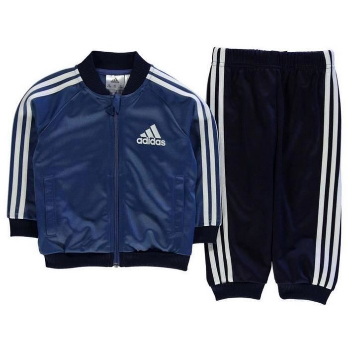 dcb089f6c11 Jogging Adidas Bébé Bleu Marine et Blanc Bleu Bleu - Achat   Vente ...