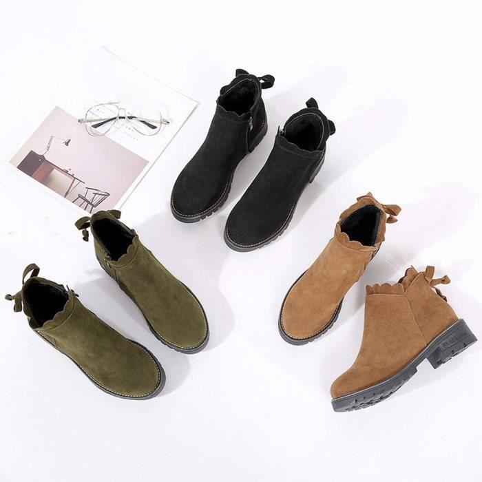 Femmes papillon bottes courtes bottines bottines mode bas chaussures Wedge XYM70831903 45UvmzJo95