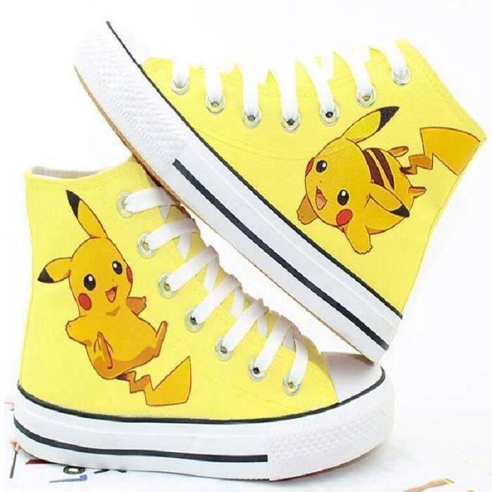 de chaussures chaussures bande toile sport Pokemon pikachu dessinée wqxxTp