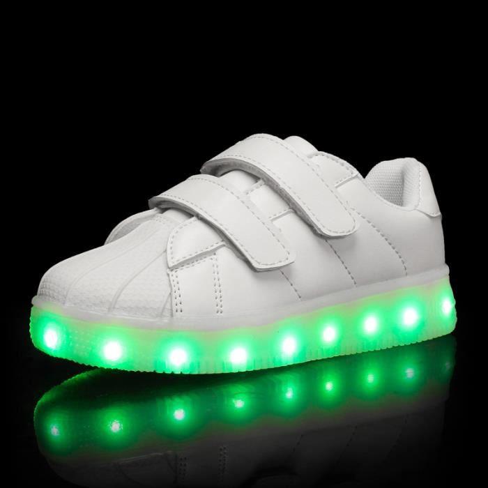 Été nouvelles chaussures pour enfants chaussures LED lumière chaussures lumière rechargeable USB garçons et filles lumière 4QEct1n
