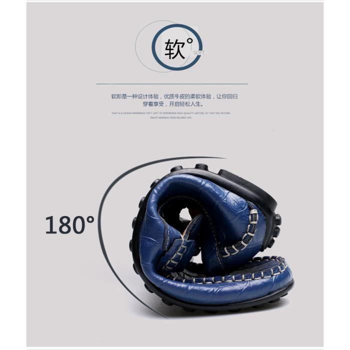 Chaussures Hommes Mocassins Bleu