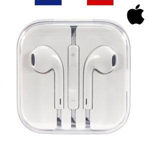 CASQUE - ÉCOUTEURS APPLE EARPODS Ecouteurs iphone 6 AUTHENTIQUES comp