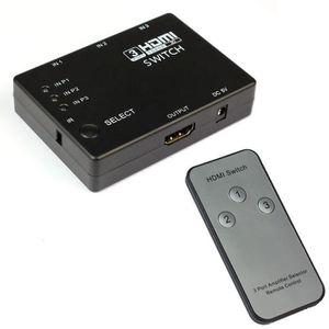 TÉLÉCOMMANDE DOMOTIQUE  Nouveau 1080p Full HD 3 ports commutateur commutat
