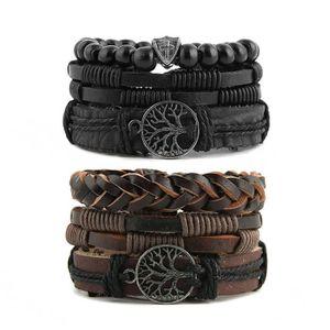 BRACELET - GOURMETTE Mix 6 Wrap Bracelets de femmes, cordons de chanvre
