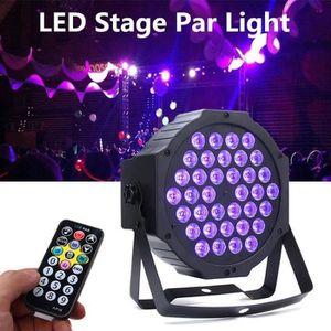 LAMPE ET SPOT DE SCÈNE 72W 36LED UV Lumière Scène Projecteur 4modes+2 tél