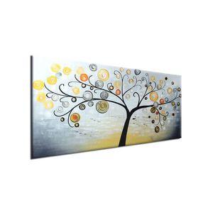TABLEAU - TOILE Peinture Huile sur Toile Tableau Déco Art Abstrait