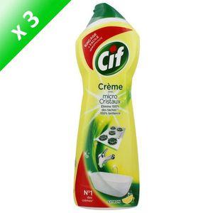 NETTOYAGE SALLE DE BAIN CIF Lot de 3 crèmes à récurer - Parfum citron - 75