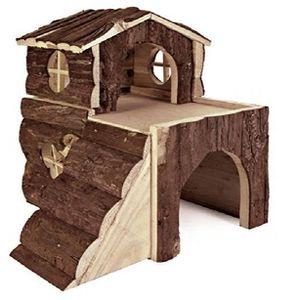 ACCESSOIRE ABRI ANIMAL Croci Maison Villa En Bois Pour Petits Animaux 31x