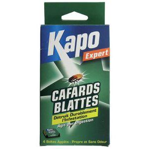 PRODUIT INSECTICIDE Cafards et blattes Kapo Expert - 4 boîtes appâts