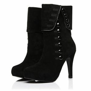 BOTTE Bottes femme Talons hauts Mode Chaussures Femme Pl